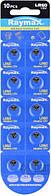 Батарейка Raymax AG1 /LR60/164/364/SR21W 10/100шт