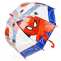 Детский зонтик механический, прозрачный Spider-Man (Человек-паук) ЭВА, длинна - 48 см, 8 спиц ТМ ARDITEX SM9852 синий