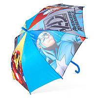 Детский зонтик полуавтомат Avengers (Мстители) полиэстер, длинна - 48 см, 8 спиц ТМ ARDITEX AV9833 голубой