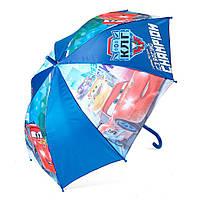 Детский зонтик полуавтомат Cars (Тачки) полиэстер, длинна - 48 см, 8 спиц ТМ ARDITEX WD9819 синий