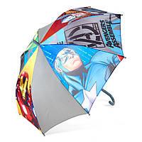 Детский зонтик полуавтомат Avengers (Мстители) полиэстер, длинна - 48 см, 8 спиц ТМ ARDITEX AV9833 серый