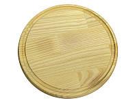 Доска деревянная для подачи пиццы д340