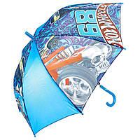 Детский зонтик полуавтомат Hot Wheels (Хот Вилс) полиэстер, длинна - 48 см, 8 спиц ТМ ARDITEX HW9674 голубой