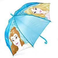Детский зонтик полуавтомат Princess (Принцессы) полиэстер, длинна - 48 см, 8 спиц ТМ ARDITEX WD9811 голубой