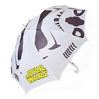 Детский зонтик полуавтомат Star Wars (Звездные войны) полиэстер, длинна - 54 см, 8 спиц ТМ ARDITEX SW9871 белый