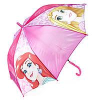 Детский зонтик полуавтомат Princess (Принцессы) полиэстер, длинна - 48 см, 8 спиц ТМ ARDITEX WD9811 розовый