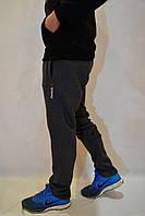 Темно-серые мужские спортивные брюки Reebok (рибок) / трикотажные штаны