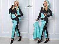 Женский спортивный костюм-тройка с жилеткой теплый 6305167