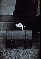 Женский кожаный портфель BlankNote Blank-Bag-2-black черный