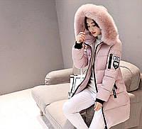 Женские толстые . длинные, зимнии куртки-парки с капюшоном