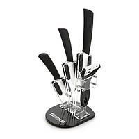 Набор ножей Adria 5 пр. на акриловой подставке Fissman (Керамические лезвия)