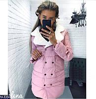 Теплая зимняя куртка в 3-х цветах (синтепон 300) 42, 44, 46 р