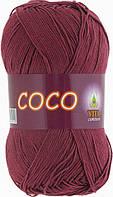 Летняя пряжа Сосо Vita Cotton, № 4325, светло-вишневый