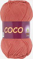 Летняя пряжа Сосо Vita Cotton, № 4328, дымчато-розовый коралл