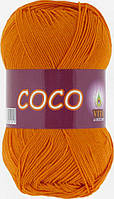 Летняя пряжа Сосо Vita Cotton, № 4329, золото