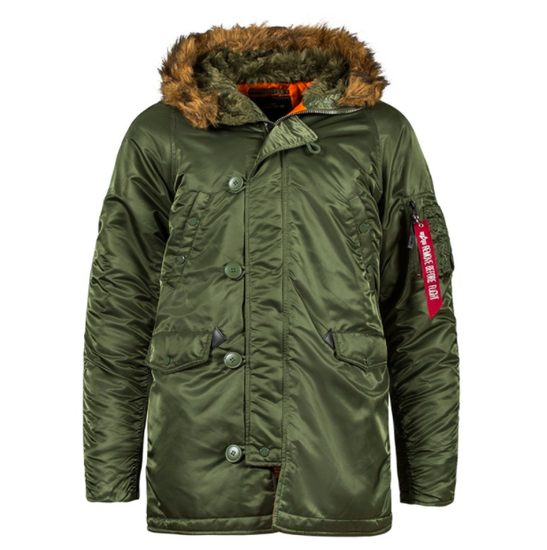 Куртка Alpha Industries (Аляска) N3-B Parka Зелёный