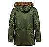 Куртка Alpha Industries (Аляска) N3-B Parka Зелёный, фото 2