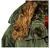 Куртка Alpha Industries (Аляска) N3-B Parka Зелёный, фото 4