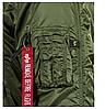 Куртка Alpha Industries (Аляска) N3-B Parka Зелёный, фото 5