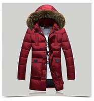 Модные. толстые, зимние пуховики и парки на утином пуху с капюшоном.