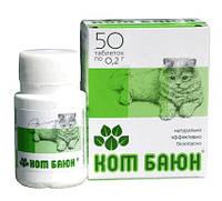 Лекарственное средство для коррекции нарушений поведения кошек и собак Кот Баюн 50таб