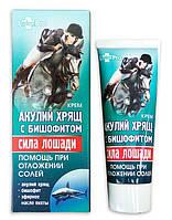 Гель-Сила лошади - АКУЛИЙ хрящ с бишофитом (при отложении солей), 75 мл, ЛекоПро