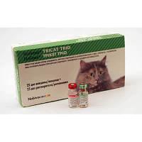 Вакцина живая сухая против калицивироза, вирусного ринотрахеита и панлейкопении кошек с растворителем для