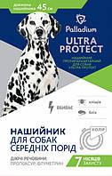 Ошейник против паразитов для собак 45см (синий)