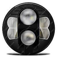 FB-HL80W Светодиодные LED фары 7 дюймов (Нива, УАЗ 469, ГАЗ 24, ВАЗ 2101, Хаммер, FJ Cruiser, w463, мотоцикл)