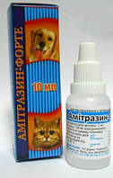 Препарат против октодереза для собак, кошек и грызунов Амитразин-Форте 10мл