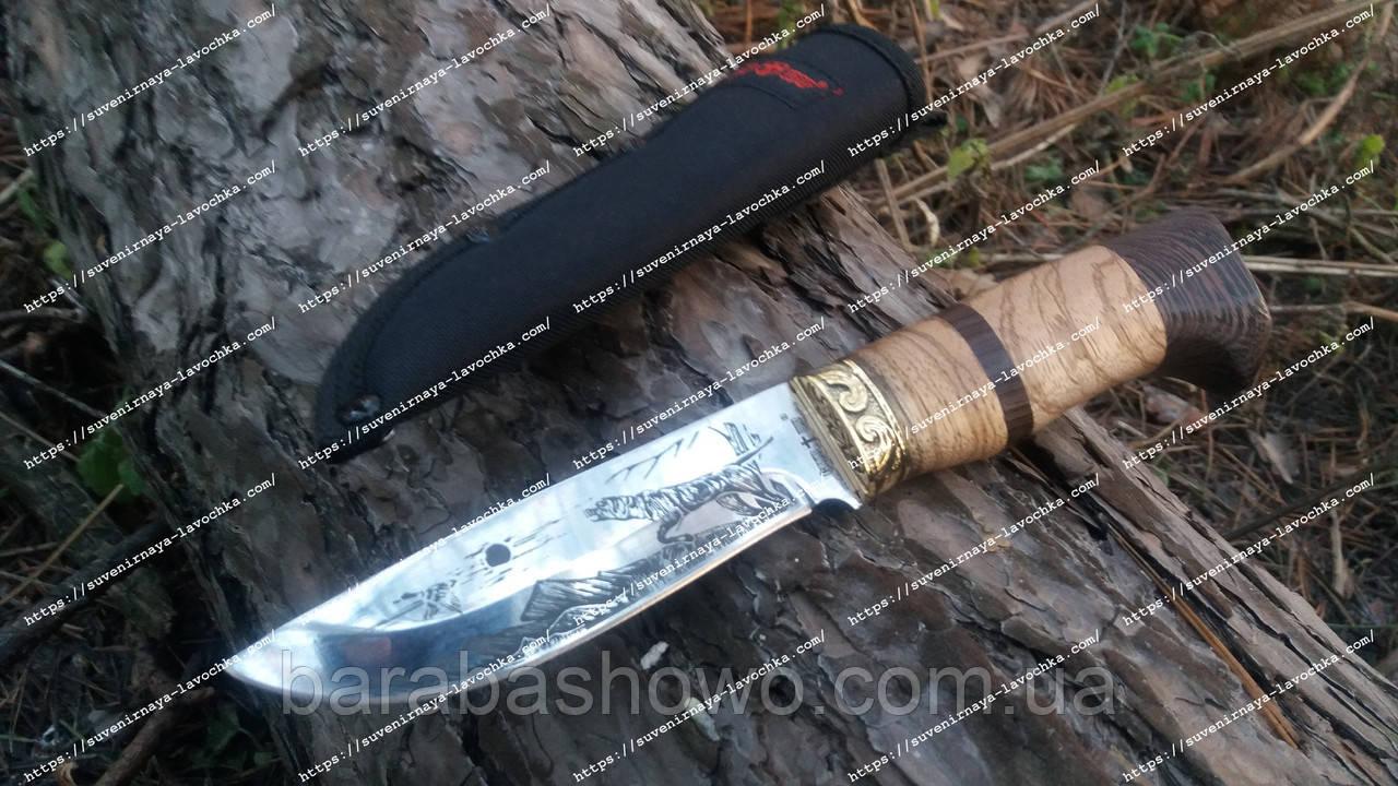 Нож нескладной Пес Охотник Оригинальный дизайн