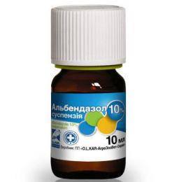 Альбендазол 10% суспензия 10 мл (O.L.KAR.) антигельминтик широкого спектра действия