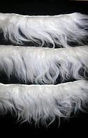 Волосы исландской овцы на шкурке. Длина волос 12-16 см.
