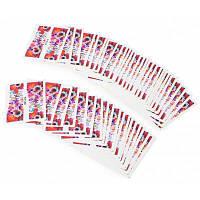 50 шт. наклейки / стикеры для дизайна ногтей с узором цветов 16#