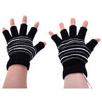 USB перчатки с подогревом без пальцев Чёрный