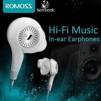 ROMOSS Senyeek Hi-Fi Наушники с супер-наушниками в ухе Двойной громкоговоритель с микрофоном Белый