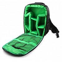 Рюкзак для путешествий с местом для фотокамеры Чёрный и зелёный