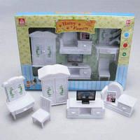 WANQIXIANG Мини Пластиковая мебель Набор игрушек для игры дома Детский подарок Белый