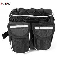YANHO велосипед мешок с шнурок мешок пакет Открытый оборудование Чёрный