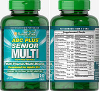 Puritan's Pride, Комплекс витаминов ABC Plus Senior, 240 таблеток