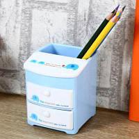 Deli 9136 Многофункциональная подставка из пластика для ручек и карандашей с 3 отделами Цветной