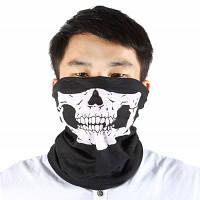 Многофункциональный спортивный бесшовный шарф для спорта на открытом воздухе Чёрный