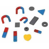 Набор магнитов разной формы для обучения 13шт Цветной
