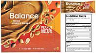 Balance Bar, Батончики, Peanut Butter, 6 штук