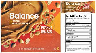 Balance Bar, Батончики, Peanut Butter, 6 шт