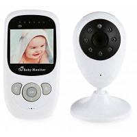 SP880 беспроводной монитор младенца ЖК-дисплей двухстороннее Аудио ночного света контроль температуры колыбельные Европейская вилка