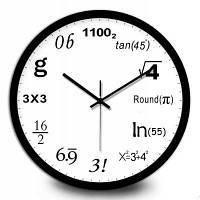 Креативные Математика Количество Настенные Часы Чёрный