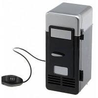 2 в 1 USB мини холодильник Чёрный
