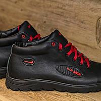 Кроссовки Nike Air Max кожаные зима.