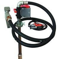 Насос для перекачки дизельного топлива из бочки PTP 12В, (24В) 40 л/мин. Насос на бочку или бак.